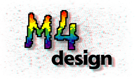 The M4 Design Logo in 3D